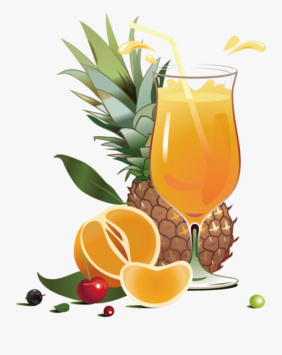 Real Fruit Juice Advertisement, Transparent Clipart
