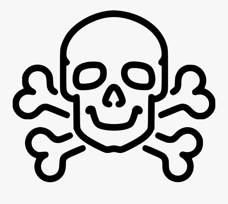 Transparent Bone Clip Art - Skull And Bones Easy Drawing, Transparent Clipart