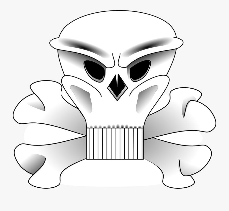 Skull And Bones - Skull And Crossbones, Transparent Clipart