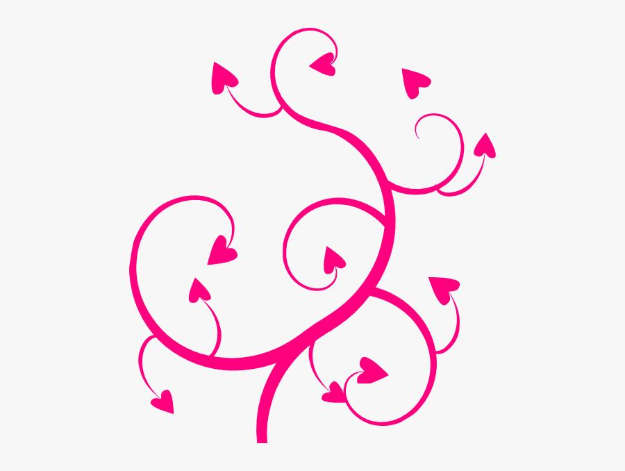 Transparent Swirl Clip Art - Hearts Swirl Clipart, Transparent Clipart