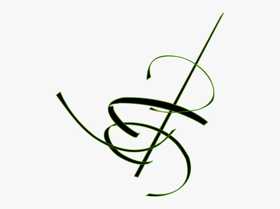 Black Cocktail Swirl Svg Clip Arts - Green Swirls Clip Art, Transparent Clipart