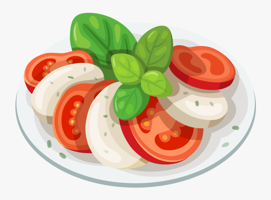 Clipart Summer Salad - Caprese Salad Clipart, Transparent Clipart