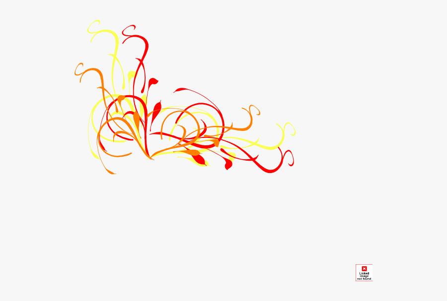 Star Swirl Clipart - Orange And Yellow Swirl, Transparent Clipart