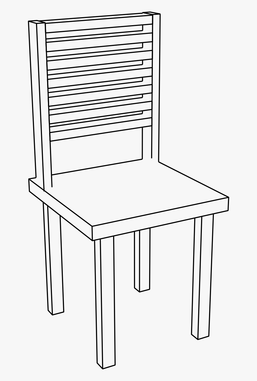 Chair Clipart Basic - Chair Png Black And White, Transparent Clipart