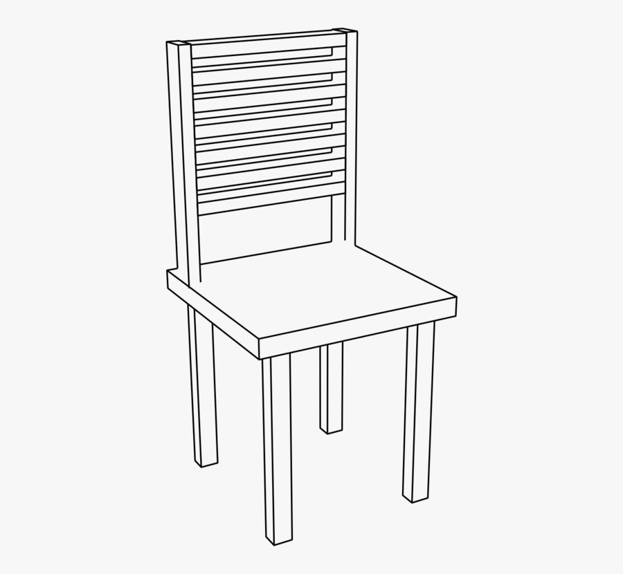 Line Art,square,angle - Chair Png Black And White, Transparent Clipart