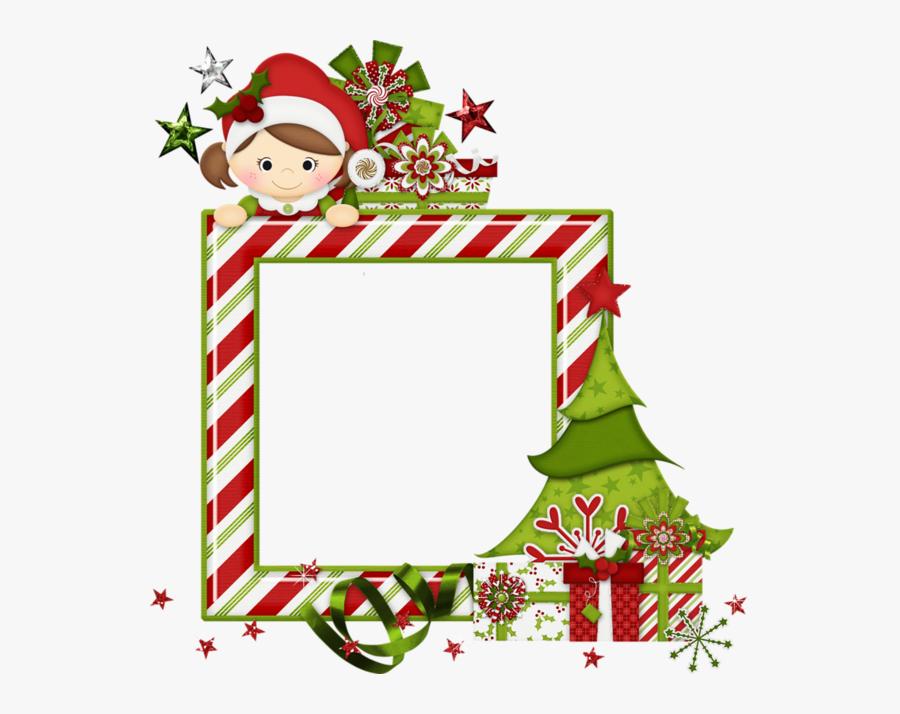 Clip Art,christmas Eve,picture Design,greeting Card,christmas - Christmas Clipart Frame Elf Bordes Clipart, Transparent Clipart