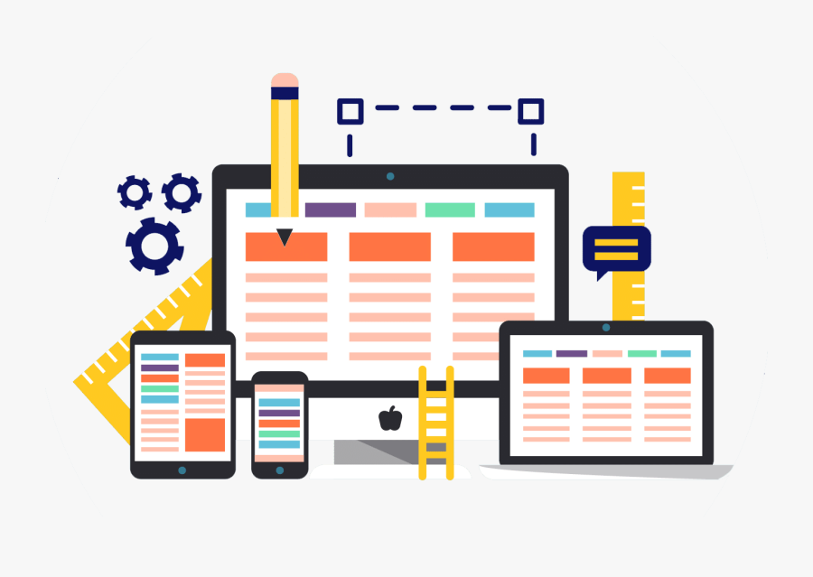 Website Design And Development Melbourne - Website Designing Icon Png, Transparent Clipart