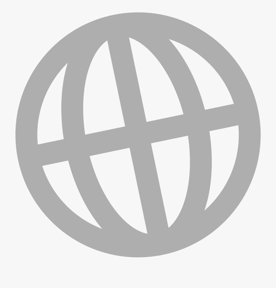 Internet Grey Big Image - Website Icon Png Grey, Transparent Clipart