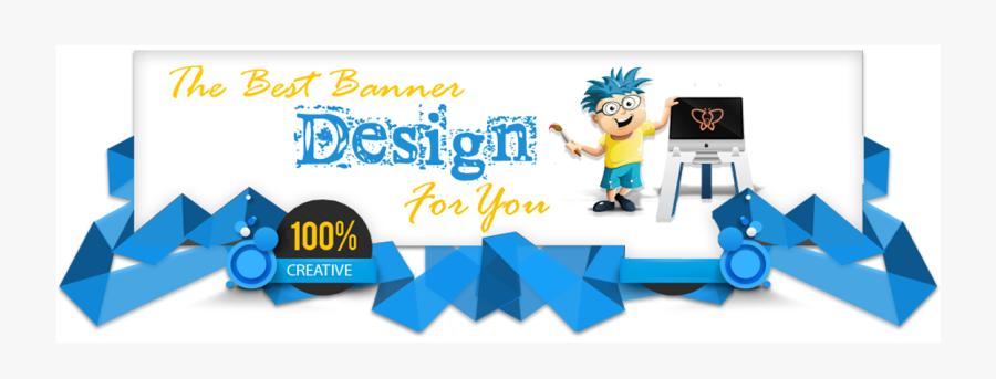 Clip Art Banner Design Pinterest Website - Web Design Creative Banner, Transparent Clipart