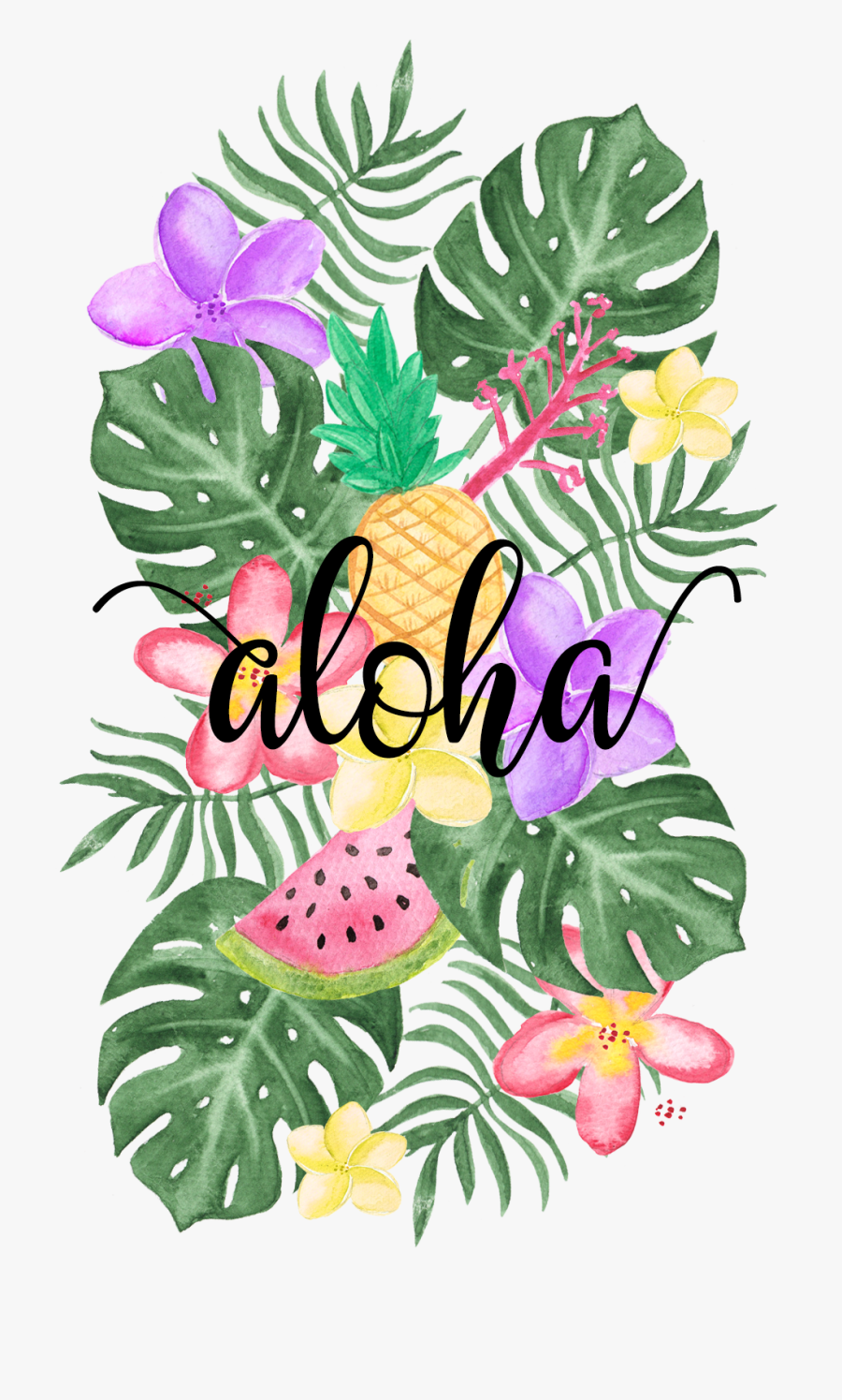#tropical #floral #vibes - Art Designs Tropical Drawings, Transparent Clipart