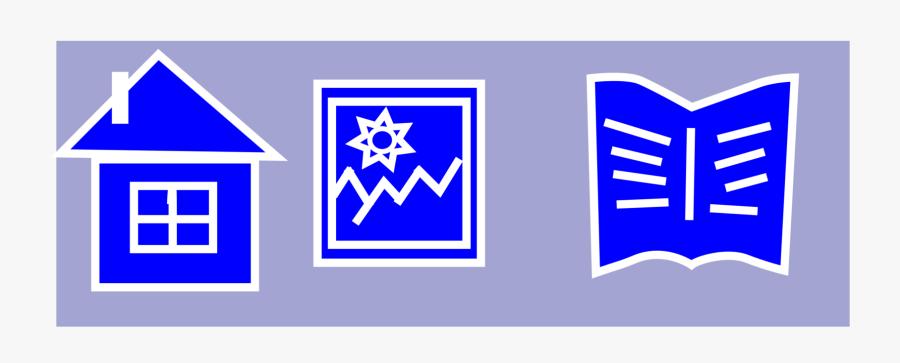 Blue,electric Blue,square - Emblem, Transparent Clipart