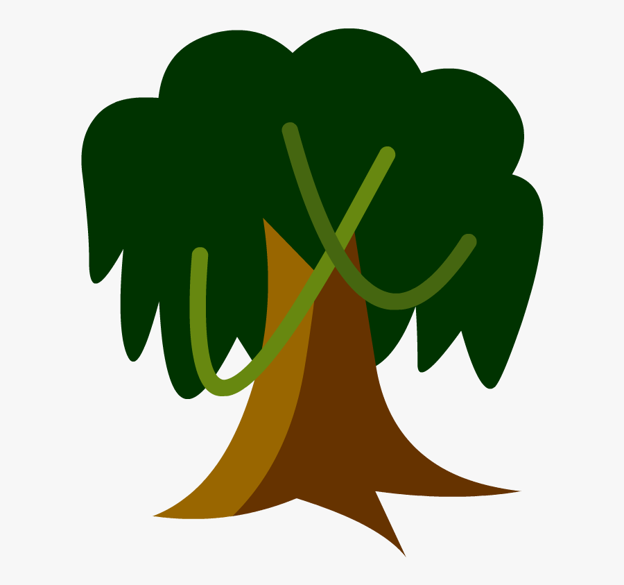 Tree In A Tropical Rainforest Cartoon Clipart , Png - Cartoon Tropical Rainforest Trees, Transparent Clipart