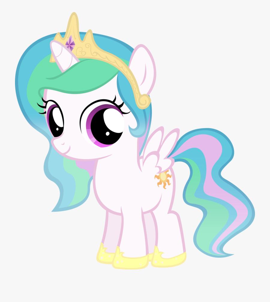 Transparent Ponies Clipart - My Little Pony Princess Celestia Filly, Transparent Clipart