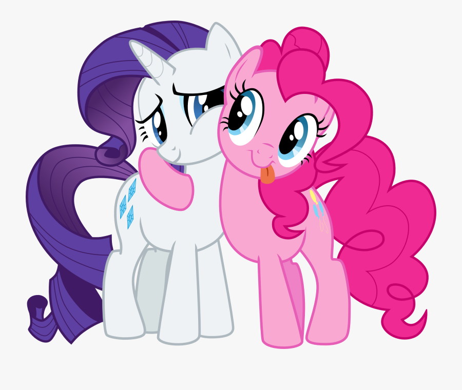 My Little Pony Clipart Border - My Little Pony Rarity And Pinkie Pie, Transparent Clipart