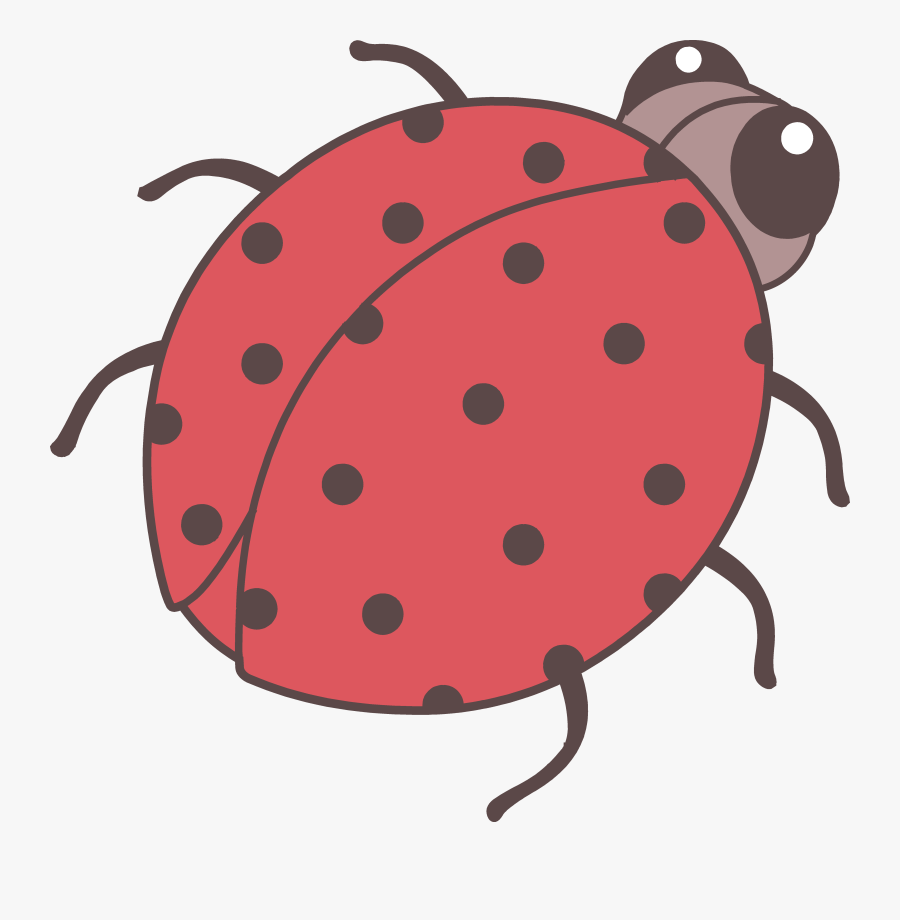Cute Red Ladybug Clip Art - Cute Bugs Png, Transparent Clipart