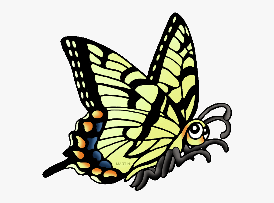 Georgia Clipart Ga State - Tiger Swallowtail Butterfly Cartoon, Transparent Clipart