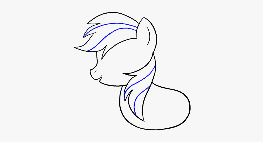 How To Draw My Little Pony Rainbow Dash Draw My Little Pony Easy Free Transparent Clipart Clipartkey