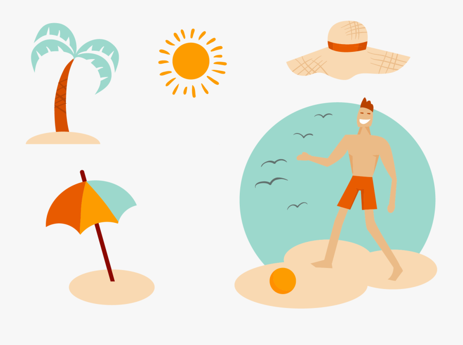 Summer Surfing Beach Vacation Hq Image Free Png - Summer, Transparent Clipart