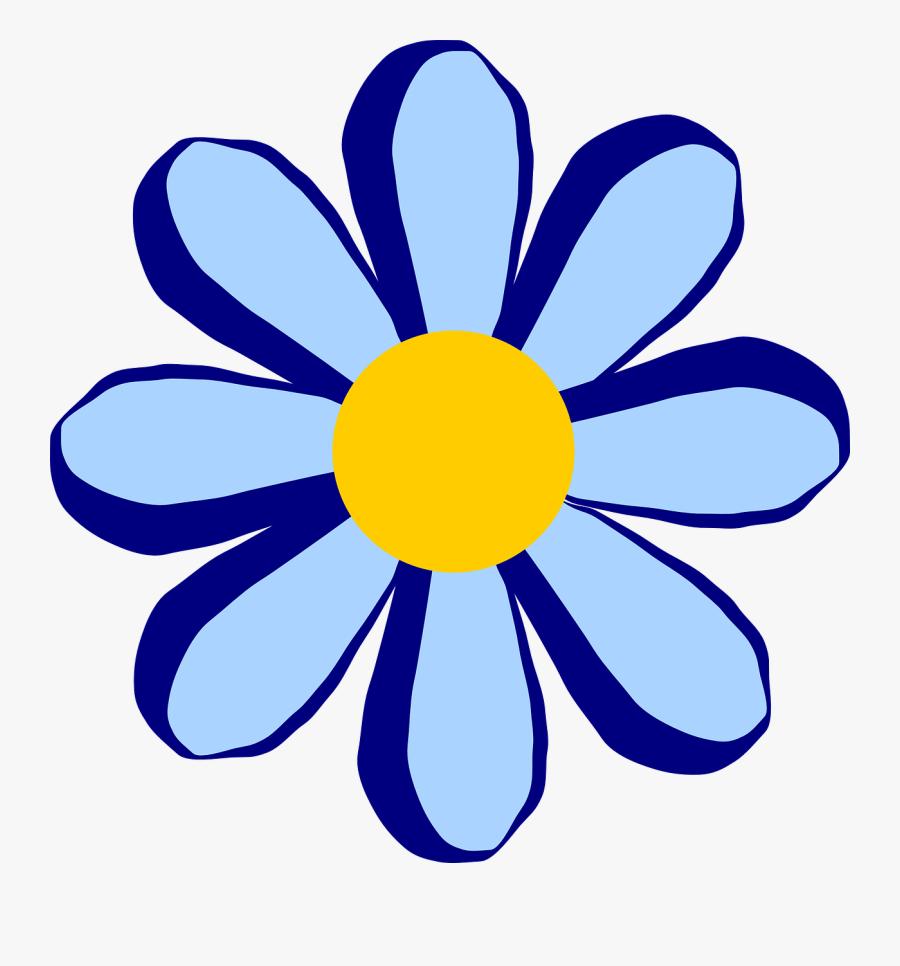 Blue Flower Clipart - Pink Flower Cartoon Png, Transparent Clipart