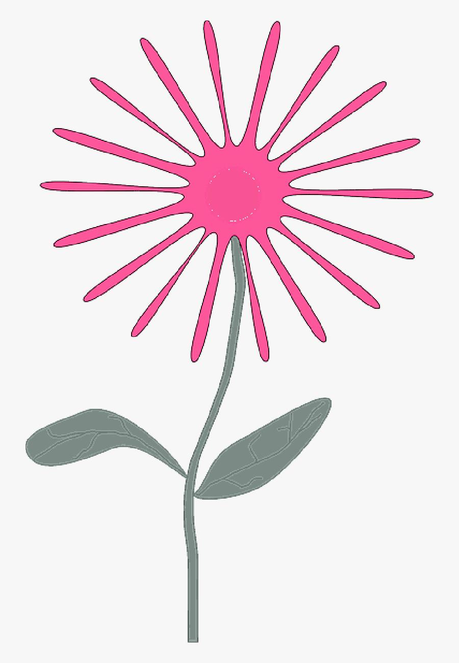 April Flowers Clipart , Png Download - Pink Flowers Cartoon Flowers, Transparent Clipart