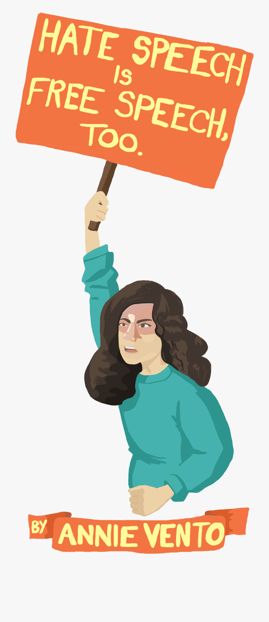 Hate Speech Is Free - Illustration, Transparent Clipart