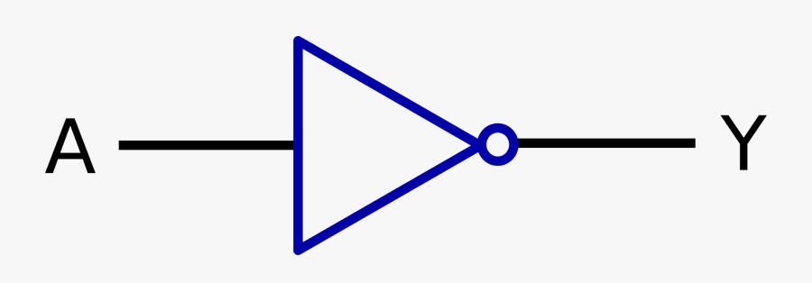Blue,angle,symmetry - Symbol For Not Gate, Transparent Clipart