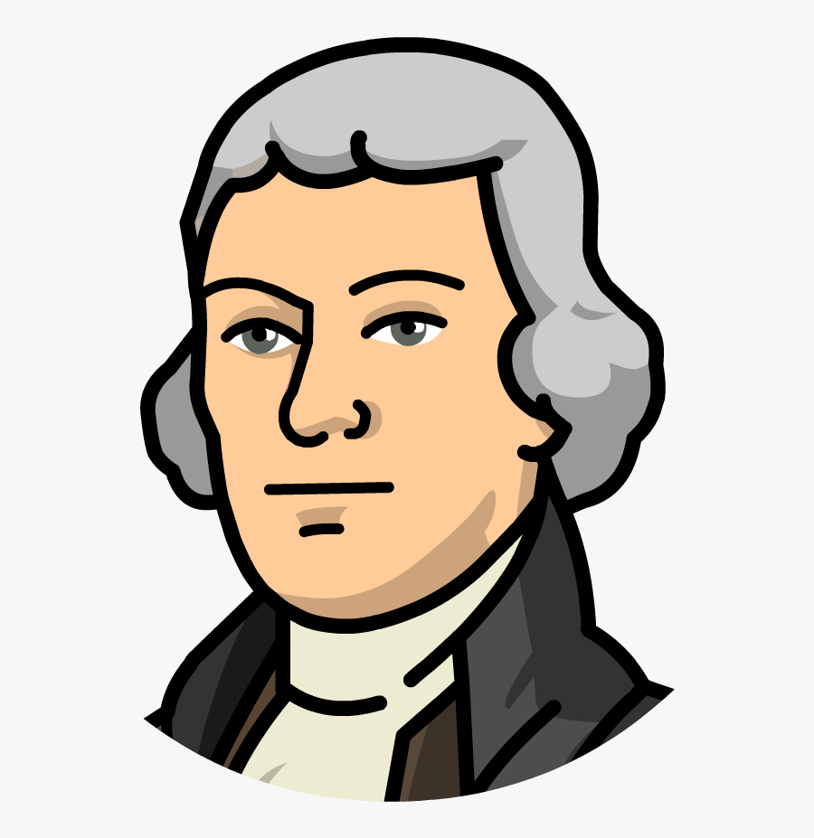 Thomas Jefferson United States Declaration Of Independence - Thomas Jefferson Clipart, Transparent Clipart