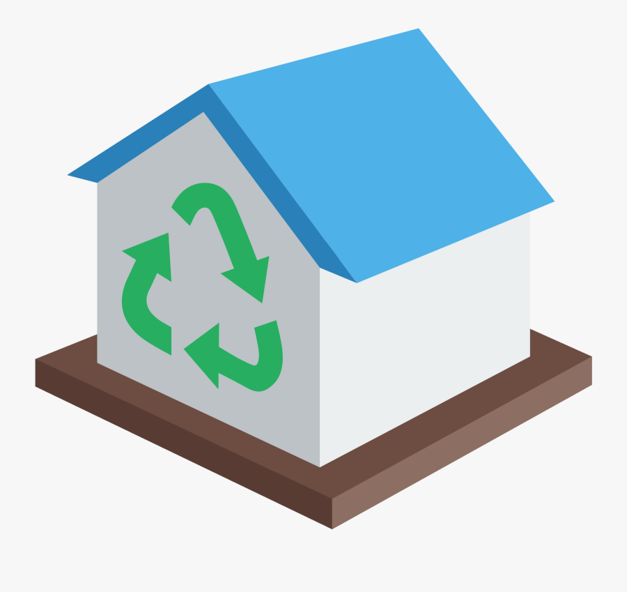 Transparent Recycling Center Clipart - Recycling Center Icon, Transparent Clipart