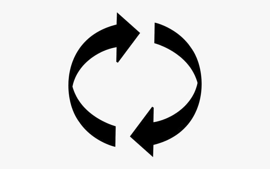 Recycle Icon Png Transparent Images - 2 Circular Arrows Symbol, Transparent Clipart