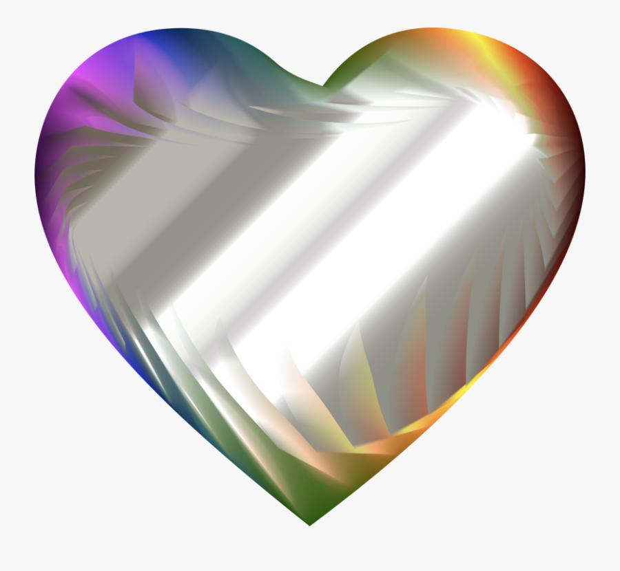Heart,computer Wallpaper,refraction - Clip Art, Transparent Clipart