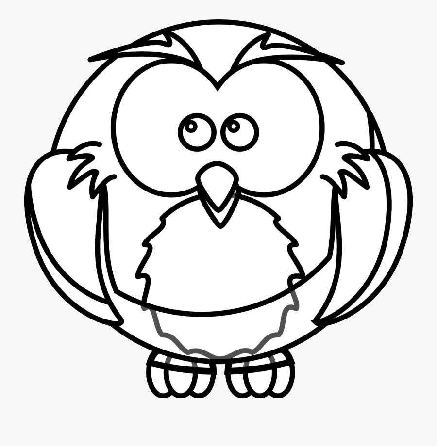 Owls Clipart Black And White Owl - Drawing Of Owl Outline ...