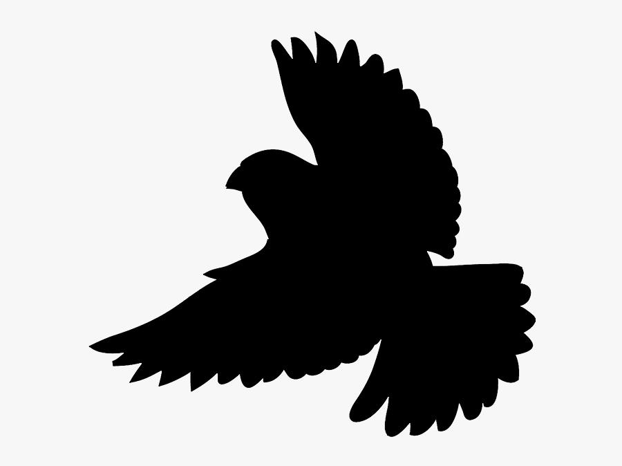 Quail Silhouette Clip Art - Robin Bird Silhouette Flying, Transparent Clipart
