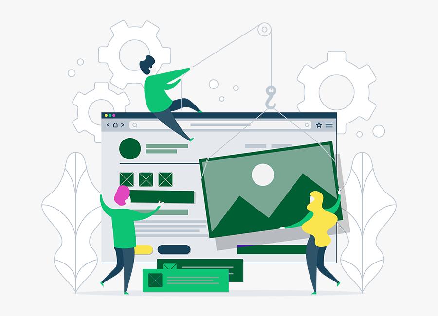 Web Page Img - Custom Design Template Design, Transparent Clipart