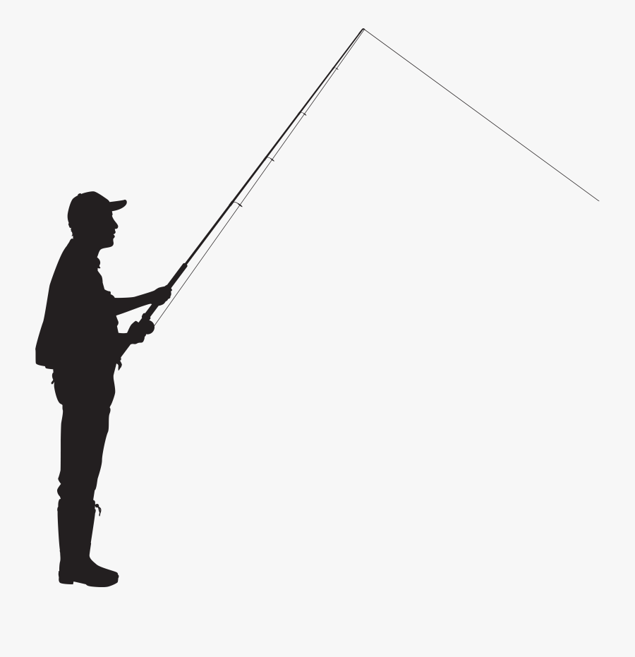 Clip Freeuse Library Fisherman Vector Fly Fishing Rod, Transparent Clipart