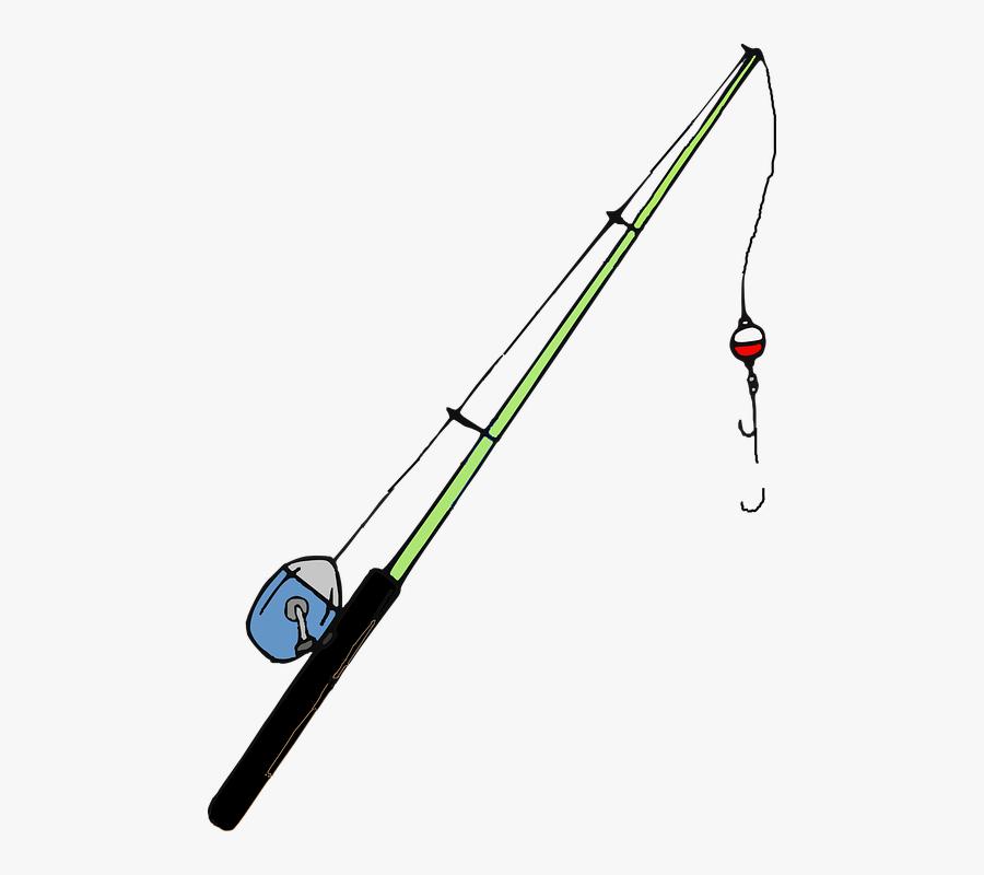 Rod Clipart Fishing Rods Clip Art - Transparent Background Fishing Rod Clipart, Transparent Clipart
