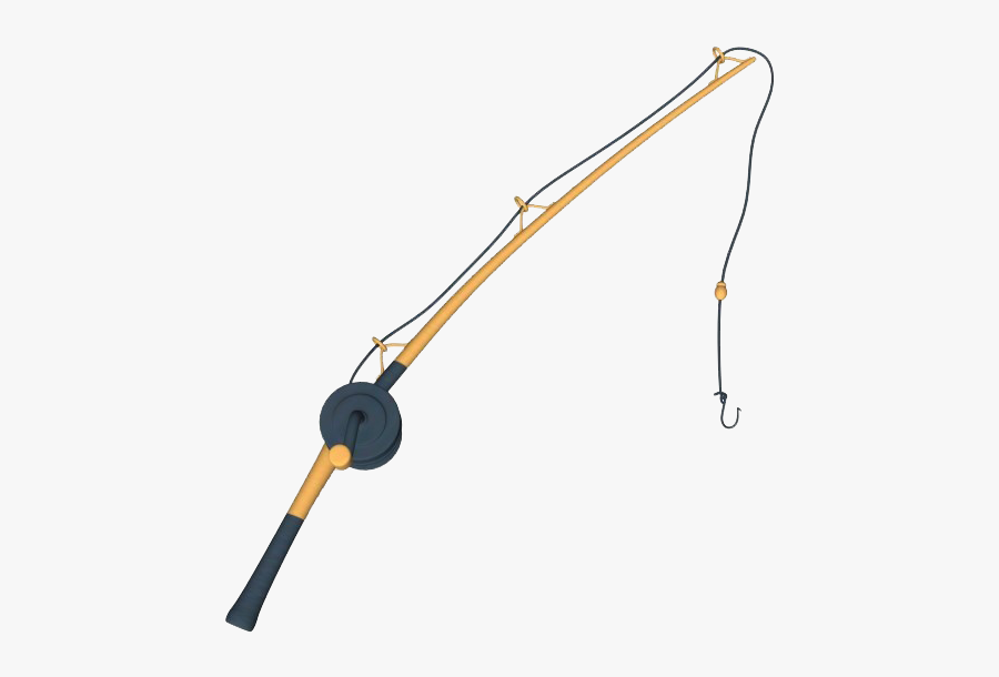 Simple Fishing Png Free - Fishing Rod Clipart Transparent, Transparent Clipart
