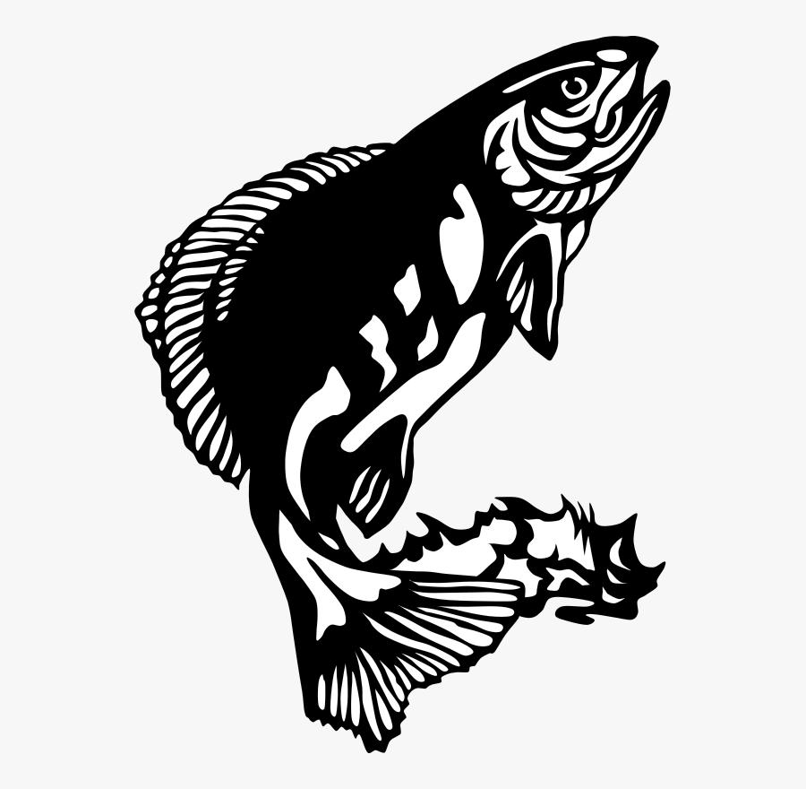 Art,monochrome Photography,fish - Fish Clip Art, Transparent Clipart