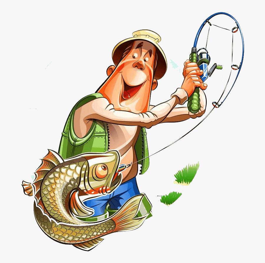 Cartoon Fishing Rod - Fisherman Clipart, Transparent Clipart