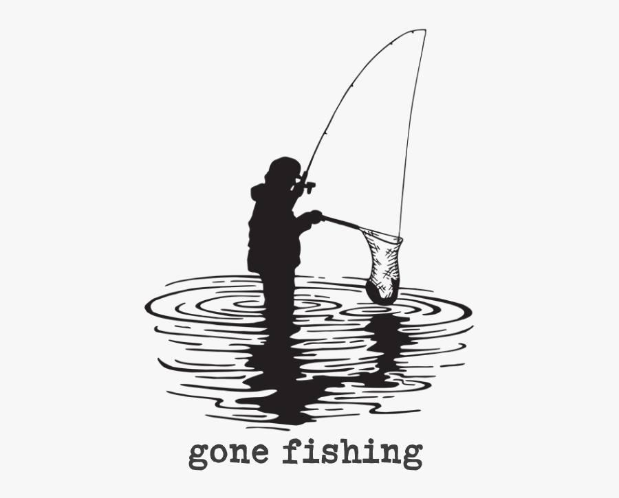 Fisherman Clipart Gone Fishing - Fishing, Transparent Clipart