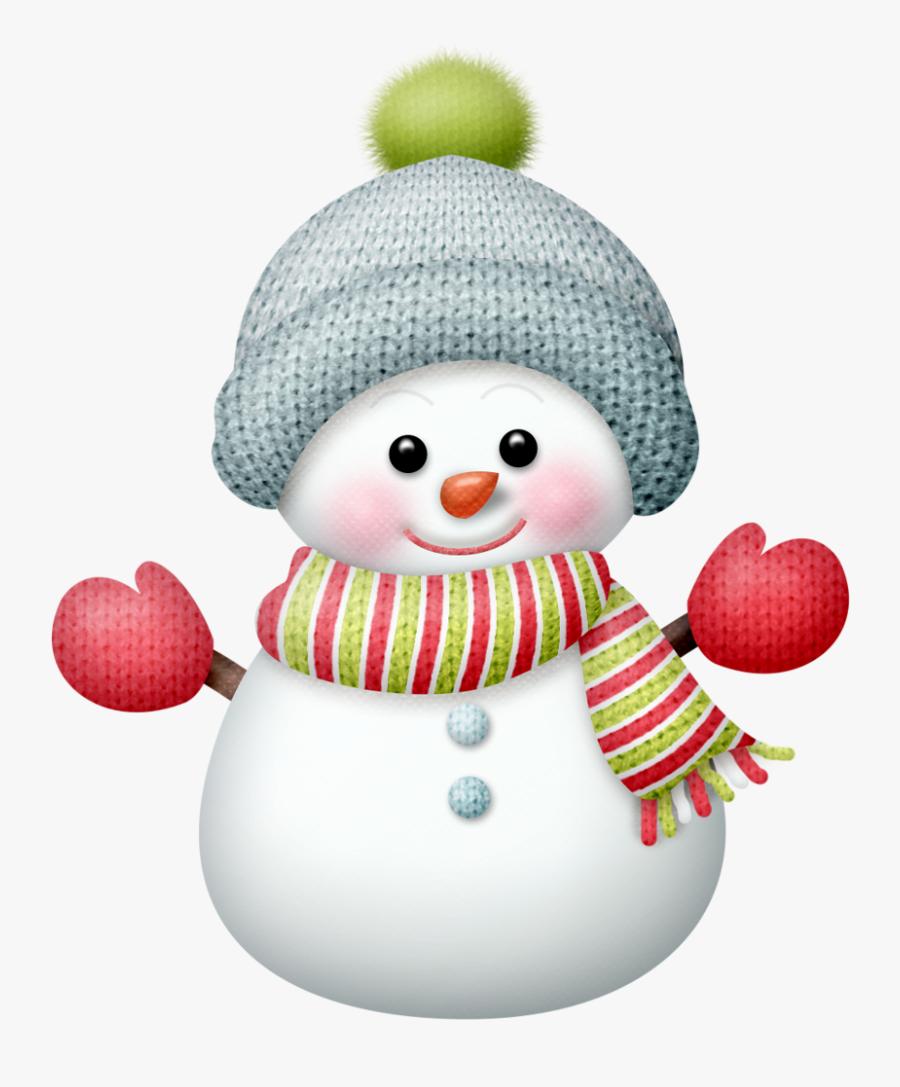 Snowman Snowmen Clipart Picture Transparent Png - Cute Christmas Snowman Cartoon, Transparent Clipart