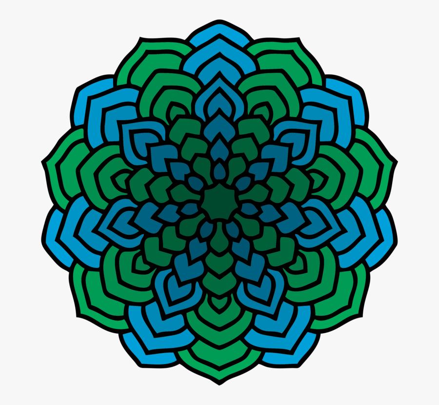 Flower,leaf,symmetry - Difficult Mandalas Coloring Pages, Transparent Clipart