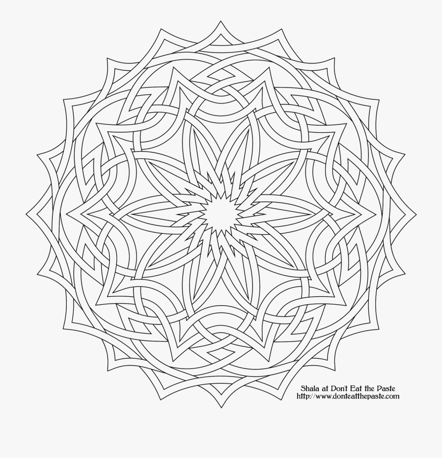 High Resolution Coloring Book Clipart - Mathematical Optical Illusions, Transparent Clipart