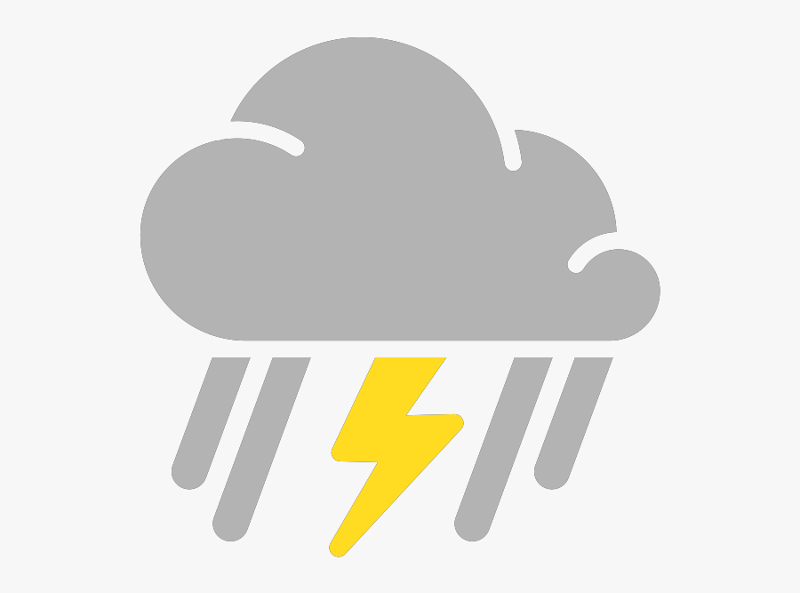 Simple Weather Icons Mixed Rain And Thunderstorms Svg - Thunderstorm Weather Symbol Png, Transparent Clipart