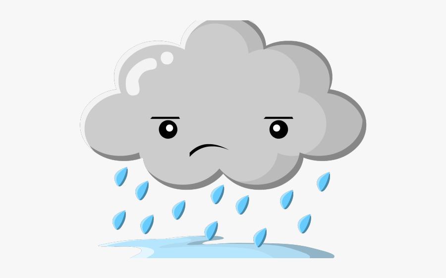 Sad Rain Cloud Cartoon , Free Transparent Clipart - ClipartKey
