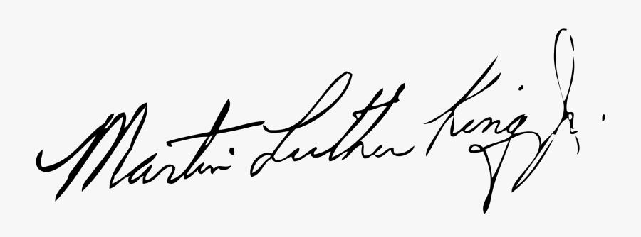 Dr Martin Luther King Jr Signature, Transparent Clipart