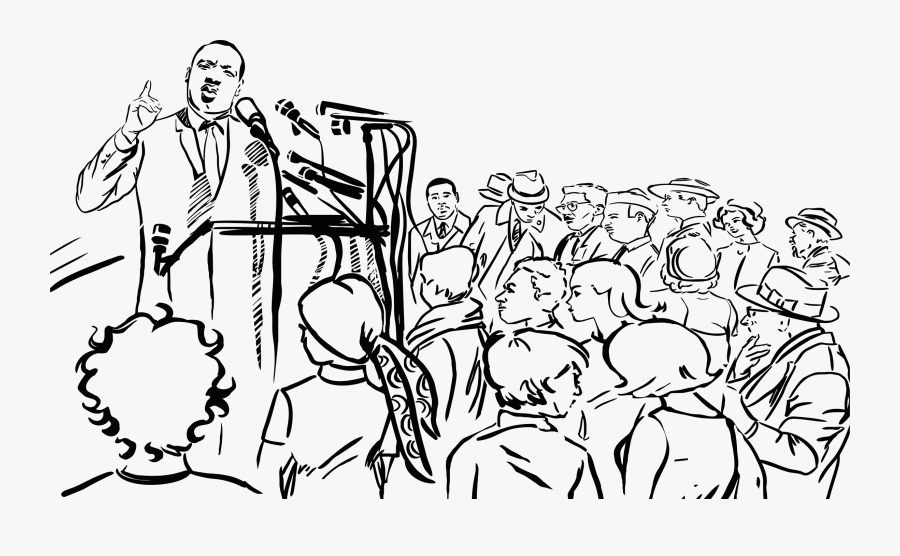 Transparent Martin Luther King Day Png - Martin Luther King Speech Drawing, Transparent Clipart