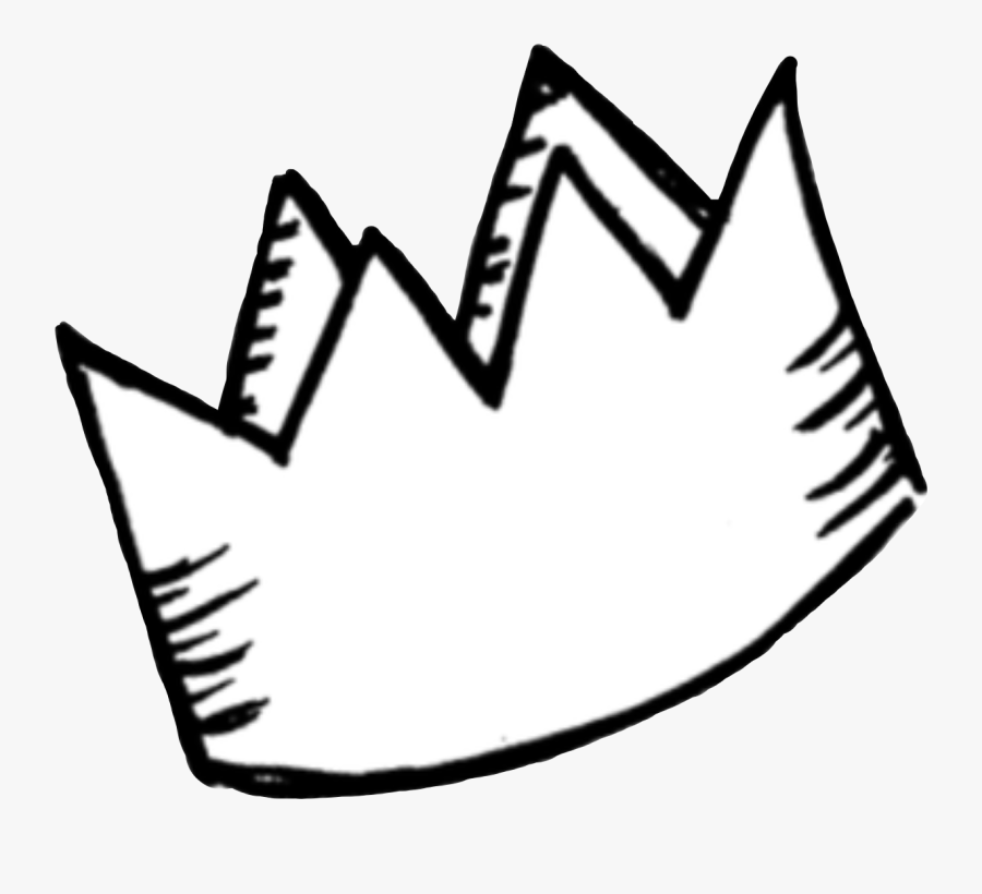 Sticker Png Tumblr White Crown Cute Aesthetic Royalty - Doodle Crown Png, Transparent Clipart