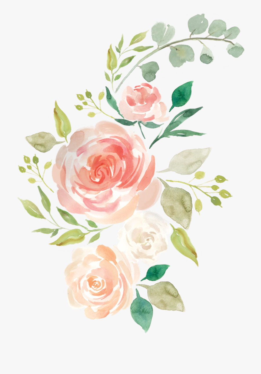 Transparent Tumblr Rose Png Pastel Watercolor Flower Png Free