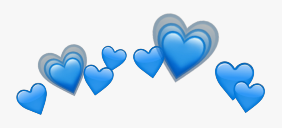 Blue Heart Tumblr Png Clipart Png Heart Tumblr Blue - Heart Emoji Png Transparent, Transparent Clipart