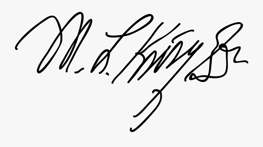 Martin Luther King Signature No Background, Transparent Clipart